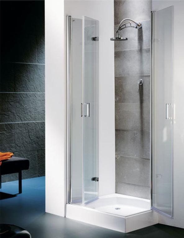 Mamparas para ducha aluminios jesus diaz for Hojas plegables